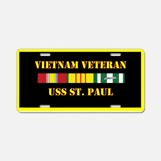 USS St. Paul Aluminum License Plate
