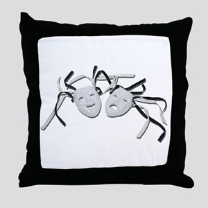 Comedy Tragedy Faces Throw Pillow