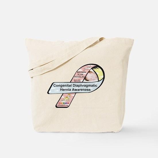 Bryson Alan Douglas CDH Awareness Ribbon Tote Bag