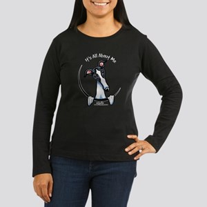 White Black Greyhound IAAM Women's Long Sleeve Dar