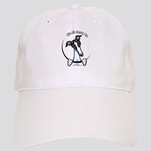 White Black Greyhound IAAM Cap