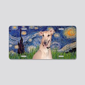 Starry Night Greyhound Aluminum License Plate