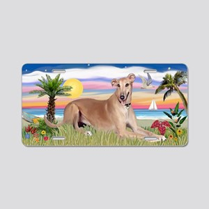 Palms - Greyhound (ld) Aluminum License Plate
