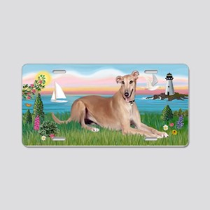 Lighthouse-Greyhound (ld) Aluminum License Plate