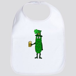 Pickle St. Patrick's Day Baby Bib