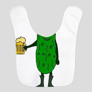 Pickle St. Patrick's Day Polyester Baby Bib