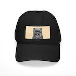 Affenpincher Black Cap with Patch