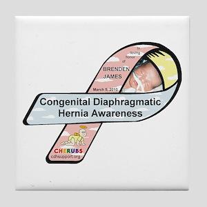 Brenden James CDH Awareness Ribbon Tile Coaster