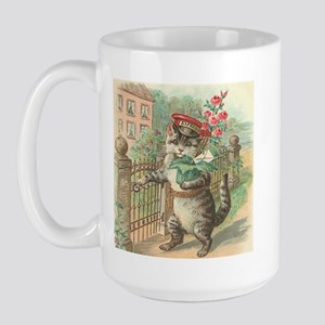 Victorian Delivery Cat Large Mug