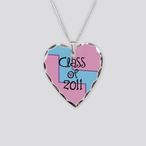 Class of 2011 Necklace Heart Charm