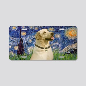 Starry / Yellow Labrador Aluminum License Plate