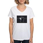 2 Swans T by Lightcaught/Bohoy Women's V-Neck T-Sh