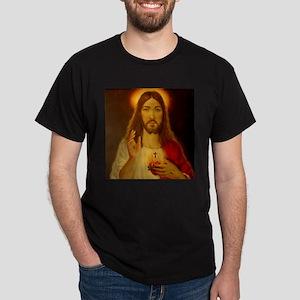 Sacred Heart of Jesus Christ Dark T-Shirt