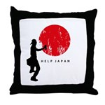 Help Japan Throw Pillow
