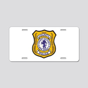 Essex County Police Aluminum License Plate