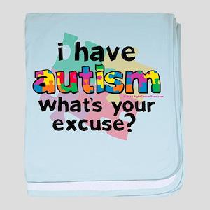 I Have Autism baby blanket