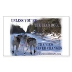 Lead Dog Rectangle Sticker