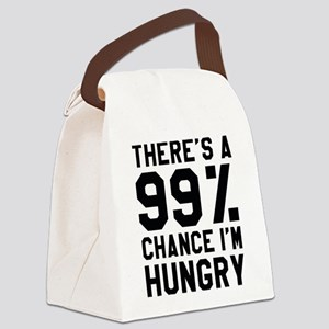 I'm Hungry Canvas Lunch Bag