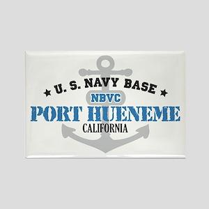 US Navy Port Hueneme Lake Bas Rectangle Magnet