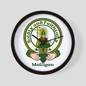 Mulligan Clan Motto Wall Clock