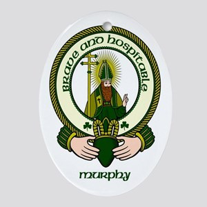 Murphy Clan Motto Oval Ornament