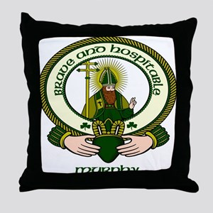 Murphy Clan Motto Throw Pillow