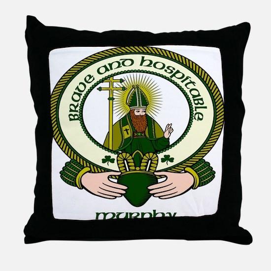 Murphy Clan Motto Throw Pillow