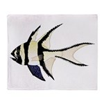Banggai cardinalfish Arctic Fleece Throw Blanket