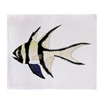 Banggai cardinalfish Plush Fleece Throw Blanket