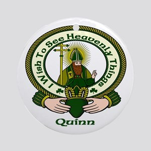 Quinn Clan Motto Ornament (Round)