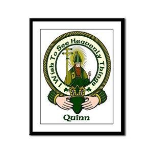 Quinn Clan Motto Framed Print