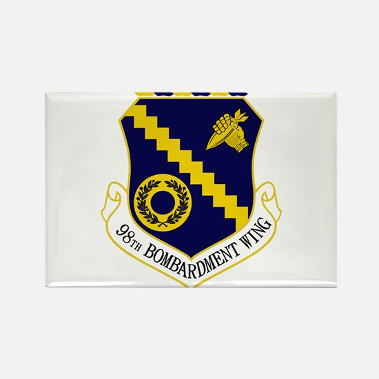 98th Bomb Wing Rectangle Magnet