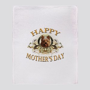 Happy Mother's Day Yorkie Throw Blanket
