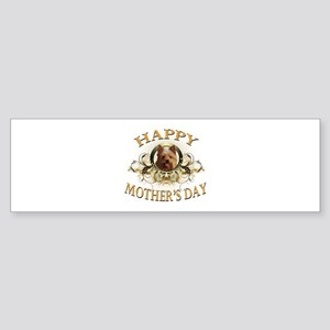 Happy Mother's Day Yorkie Sticker (Bumper)