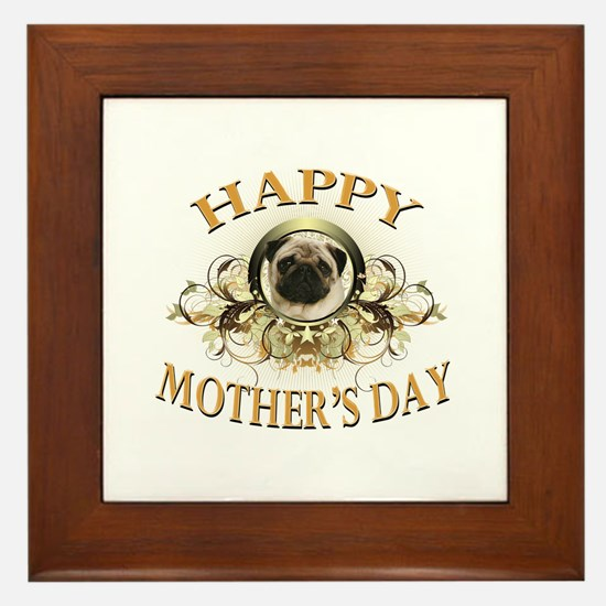 Happy Mother's Day Pug Framed Tile