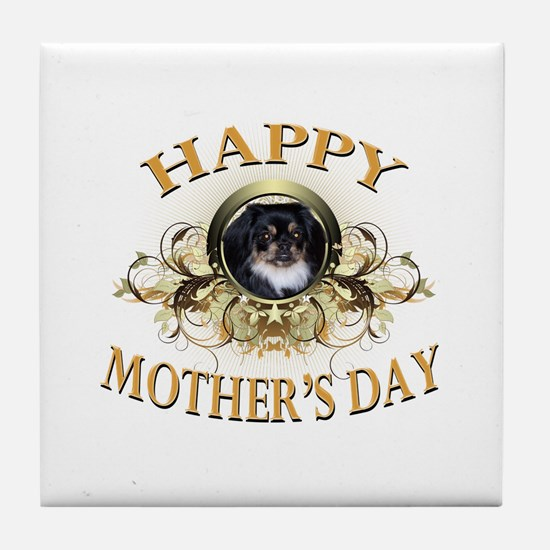 Happy Mother's Day Pekingese Tile Coaster