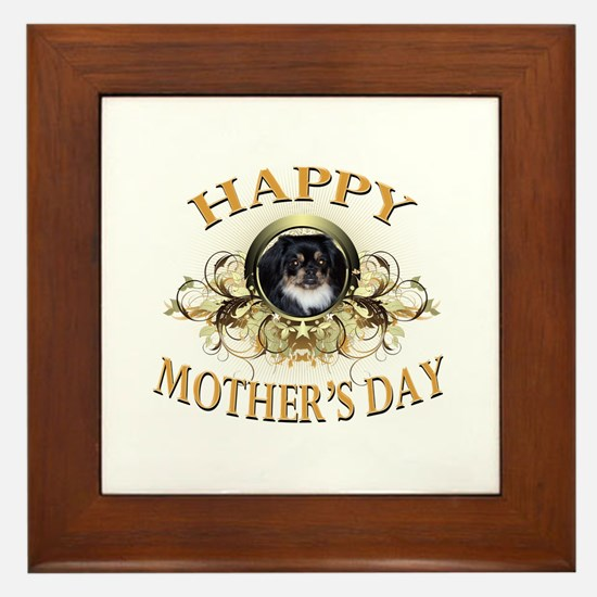 Happy Mother's Day Pekingese Framed Tile