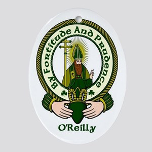 Reilly Clan Motto Oval Ornament