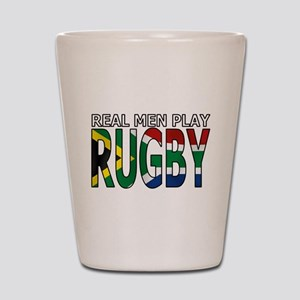 Real Men Rugby South Africa Shot Glass