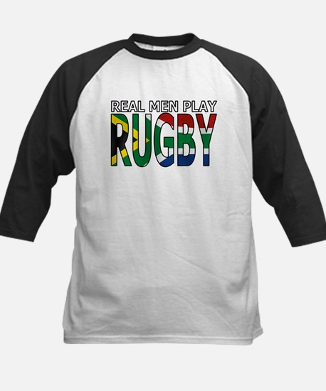 Real Men Rugby South Africa Kids Baseball Jersey