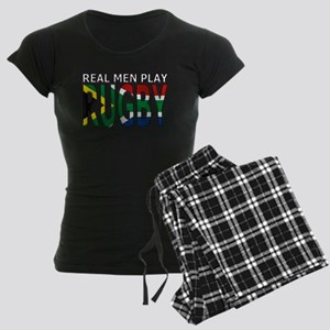 Real Men Rugby South Africa Women's Dark Pajamas