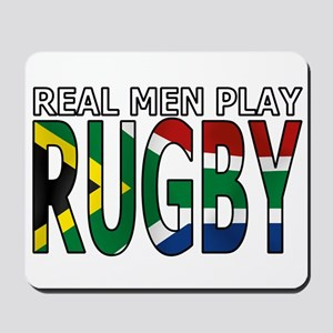 Real Men Rugby South Africa Mousepad