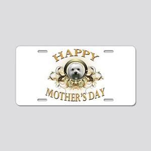Happy Mother's Day Maltese Aluminum License Plate