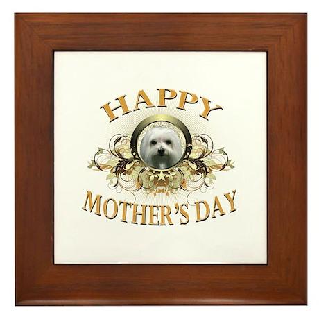 Happy Mother's Day Maltese Framed Tile
