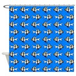 Banggai cardinalfish Shower Curtain