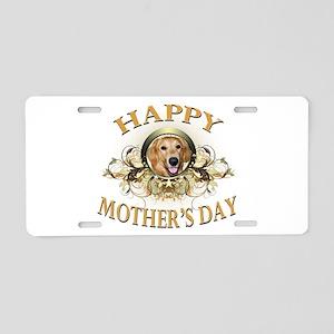 Happy Mother's Day Golden Retriever Aluminum Licen