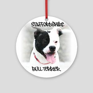 Staffordshire Bull Terrier Ornament (Round)