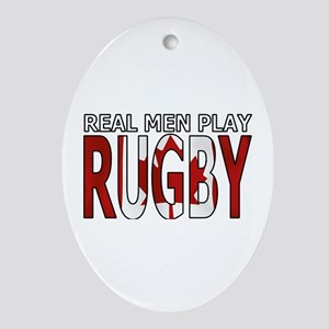 Real Men Rugby Canada Ornament (Oval)