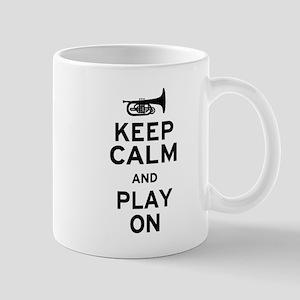 Keep Calm and Play On (Mellophone) Mug