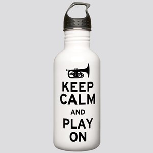 Keep Calm and Play On (Mellophone) Stainless Water